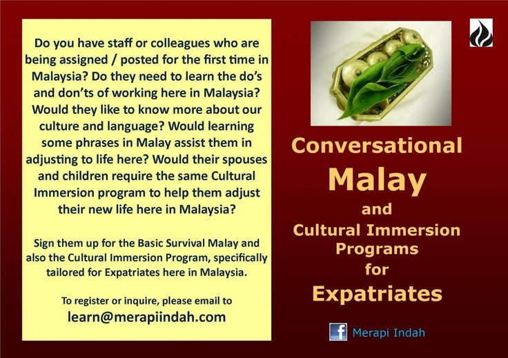 Conversational Malay and Cultural Immersion Programs for Expatriates