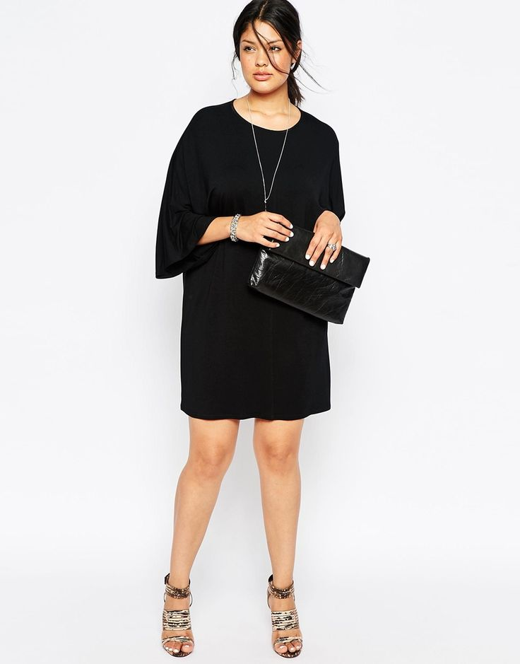Image 4 of ASOS CURVE T-Shirt Dress with Kimono Sleeves