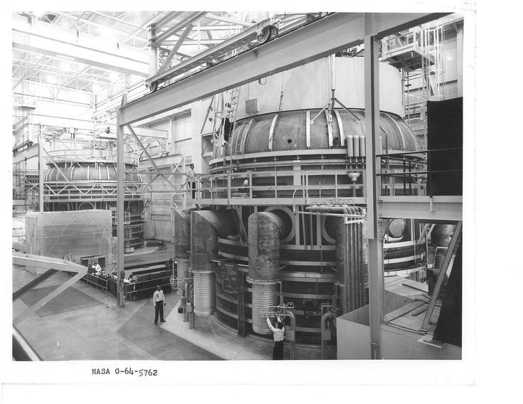 """We're throwing back to the early 60s when had TWO giant vacuum chambers. We tested the James Webb Space Telescope's flight instruments in the SES (Space Environment Simulator), which is the one at right.  More information: When this picture was taken in the 1960s, there were actually two large test chambers. The Dynamic Test Chamber (left) could create a """"near-vacuum"""" with mechanical pumps. The more robust SES (right) augmented its mechanical pumps with diffusion and cryogenic setup, as…"""