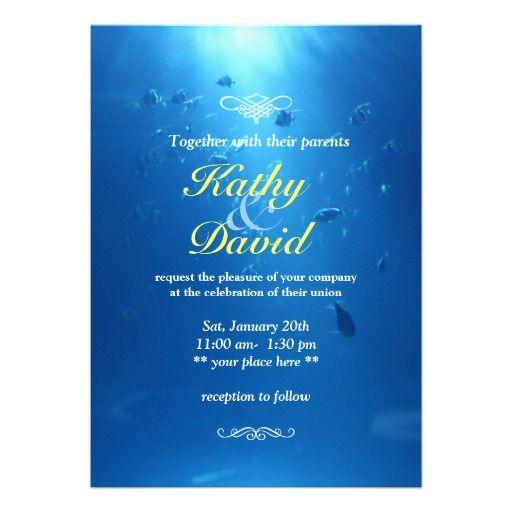 Beautiful Underwater Sea Themed Wedding Invitation