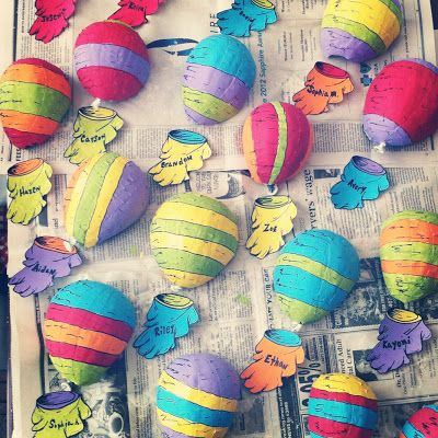 Oh the Places You'll Go- shows how to make the hot air balloons out of paper mache