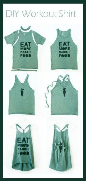 débardeur féminin avec un vieux t-shirt