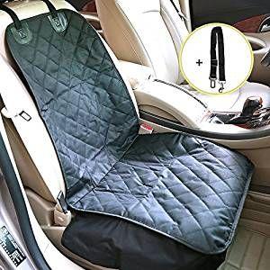 Accessori Cane Auto, Distianert Copertura impermeabile sedile anteriore cani animale domestico con cintura di sicurezza regolabile