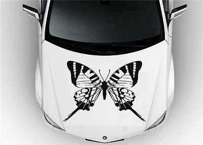 Best Car Graphics Images On Pinterest Car Decals Butterfly - Custom vinyl decals for car hoodsfull color graphic vinyl sticker decal skull ghost fit car hood