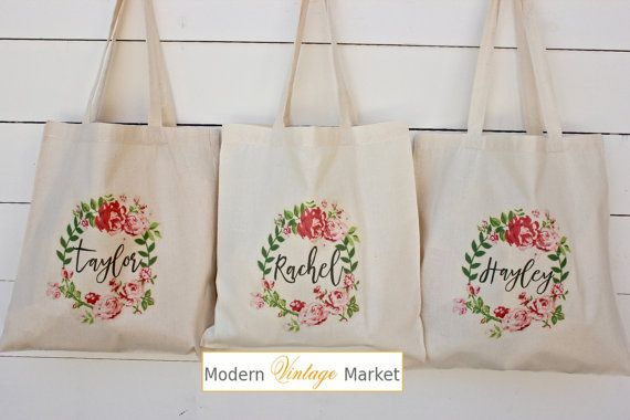 Bridesmaid Bags Bridesmaid Tote by ModernVintageMarket on Etsy