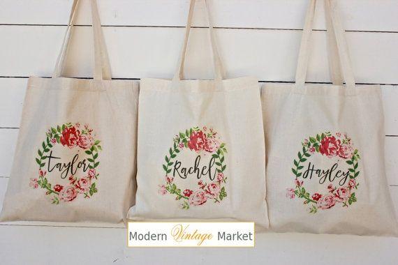Custom for SarahS. Bridesmaid Bags, Bridesmaid Tote Bags,Bridesmaid Bag,Bridal…