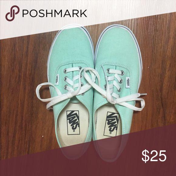 Mint Vans Mint Vans sneakers. Barely worn, in good condition. Vans Shoes Sneakers