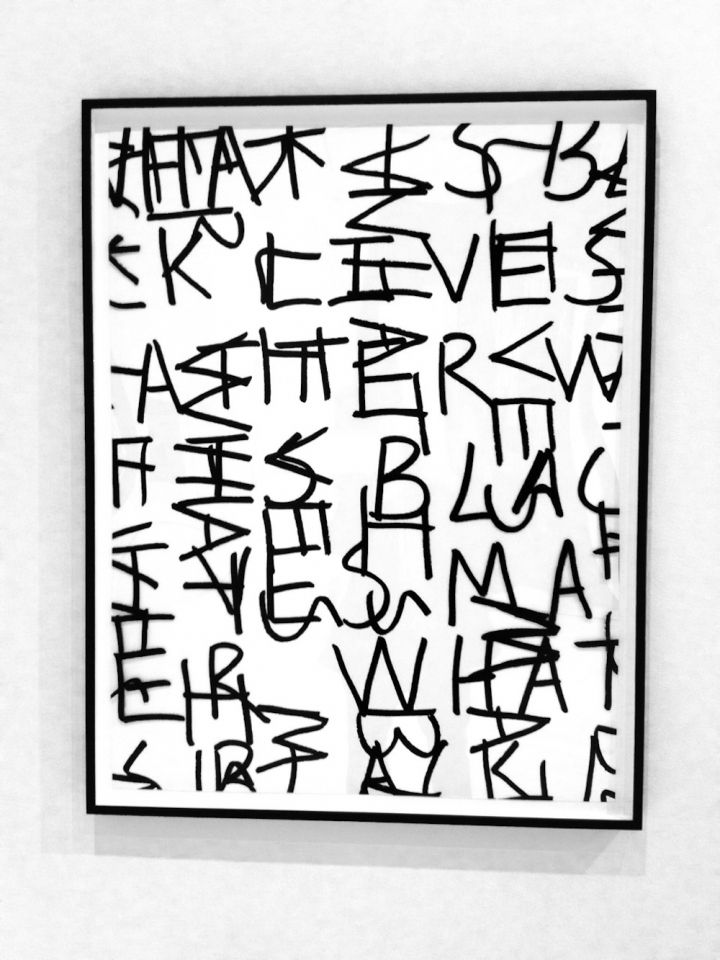 "Adam Pendleton, ""what is . . . (study)"" (2017), silkscreen ink on Mylar (courtesy the Artist and Pace Gallery)"