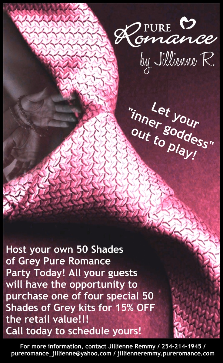 jenn Host a Fifty Shades of Grey Pure Romance party and receive – Pure Romance Party Invite