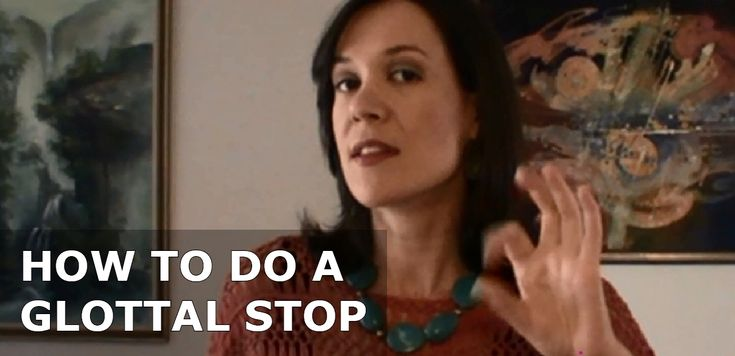 A glottal stop is the attack a singer puts on the start of a note by closing off the back of her throat first. Vocal mentor Nicola Milan shows you how.