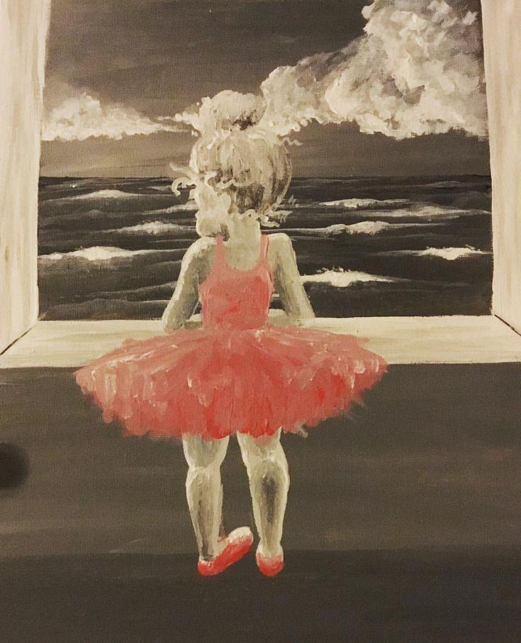 ❤️ - - - - - - - #dress #pink #ballerina #kittens #seascape #drawing #ballet #art #paint #instagram #instaart #canada #mystical #dream…