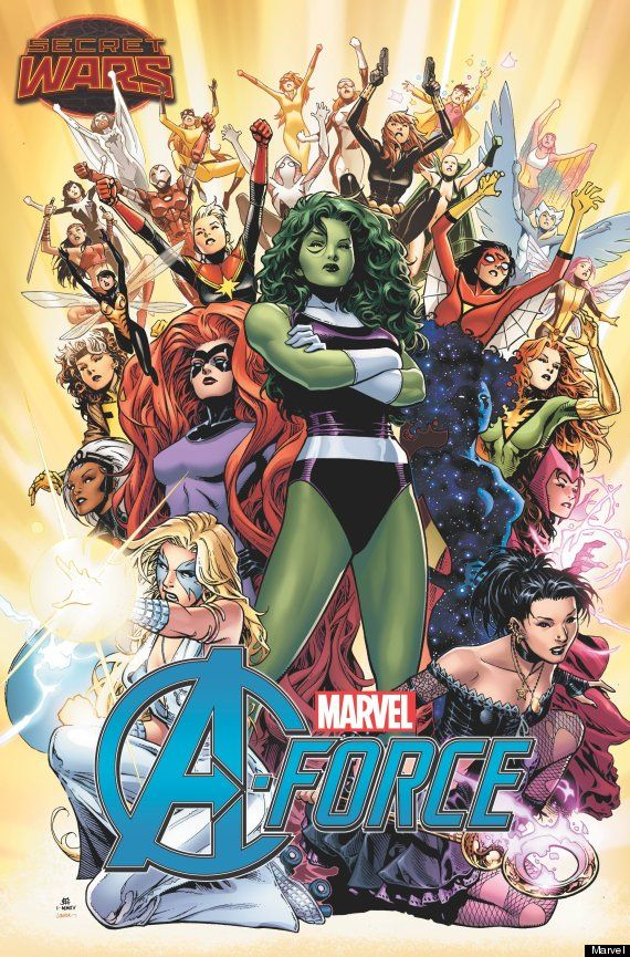 "Marvel's ""A-Force"" - a new monthly series that will follow an all-female team of Avengers, as they fight evil. 