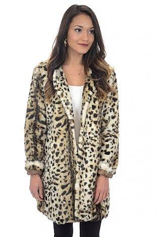 Collarless Leopard Coat :: NEW ARRIVALS :: The Blue Door Boutique