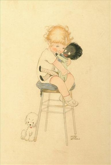 Mabel Lucie Attwell, 'I love gollywog'    Gollywog's Cakewalk was always one of my favorites.