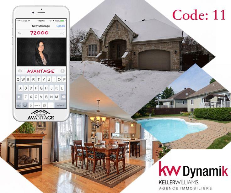 Nouveauté sur le marché  Manquez pas ce superbe plain-pied   Recevez cette maison impeccable à #Terrebonne par #SMS facilement en envoyant le mot AVANTAGE au 72000 et en répondant avec le code de la propriété!!   #GroupeAvantage #KwDynamik #Immobilier