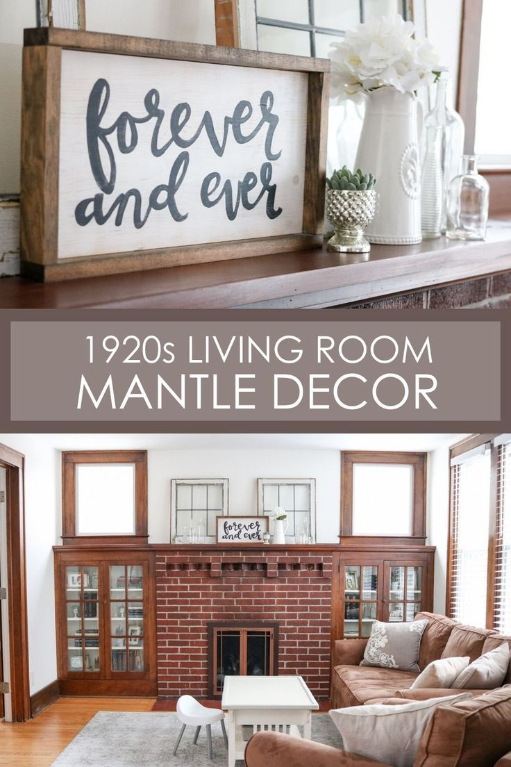 How I Styled Our Living Room Mantel And Cabinets With Objects We Already Owned Living Room Mantle Farmhouse Mantle Decor Living Room Mantel