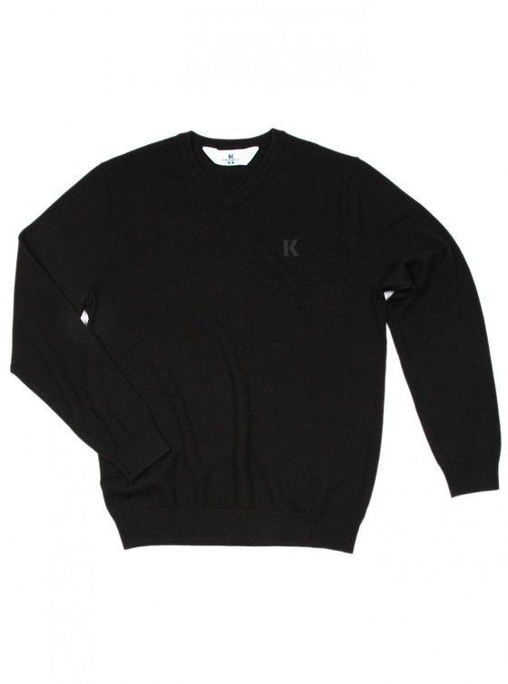 MERINO VEE 100% Woollen knit V-neck jumper.