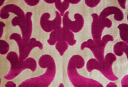 Concetti Velvet Contemporary Cut Velvet Damask Design In