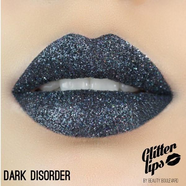 Glitter Lips - Dark Disorder Smudge Proof. Kiss Proof. Party Proof. Whether you're on a night out with the girls or just up for some fun, Glitter Lips has unbelievable beauty and incredible staying power. You will be amazed how much attention wearing Glitter Lips creates.