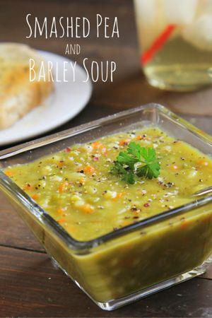 Split Pea Soup with Barley - A Fire Driven Life (vegan, not gluten-free)   Liv Life Too book review and recipe