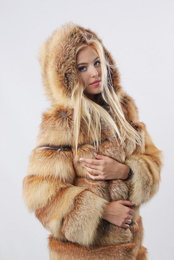 Coats Jacket Womens Pelzkleider Fox Oversized Hodded Winter qMpSUzV