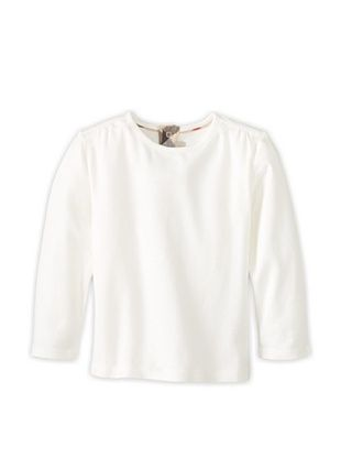 51% OFF Burberry Kid's Bow Trimmed T-Shirt (Off white)