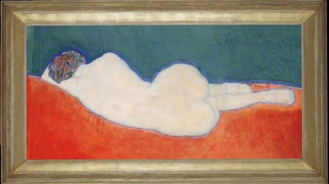 Liggend naakt (op de rug gezien), 1911, gouache en pastel op papier. © Gestel