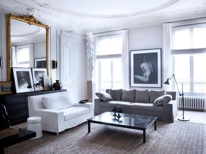 paris apartment interiors | Another striking feature includes herringbone floors that prove ...