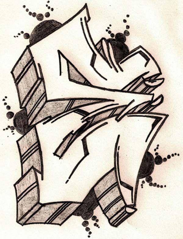 Graffiti Alphabet Styles: Letters E