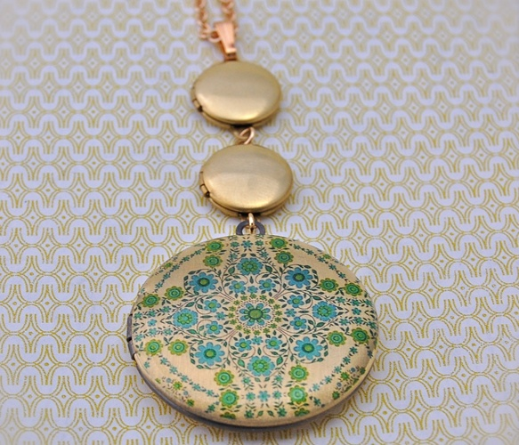 The Floral Triple Locket