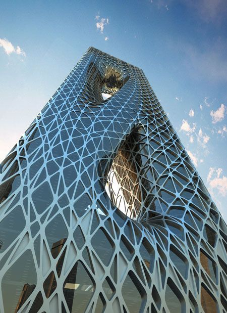 Sunrise Tower Zaha Hadid     biogeometry architecture projects -