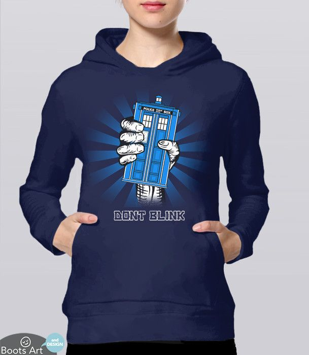 """""""Don't Blink"""" Doctor Who Angels Hoodie 