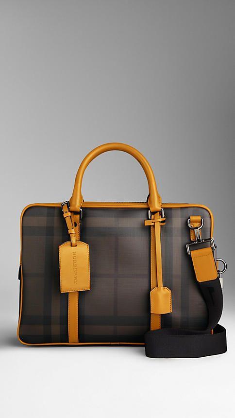 Burberry's Smoked Check Briefcase