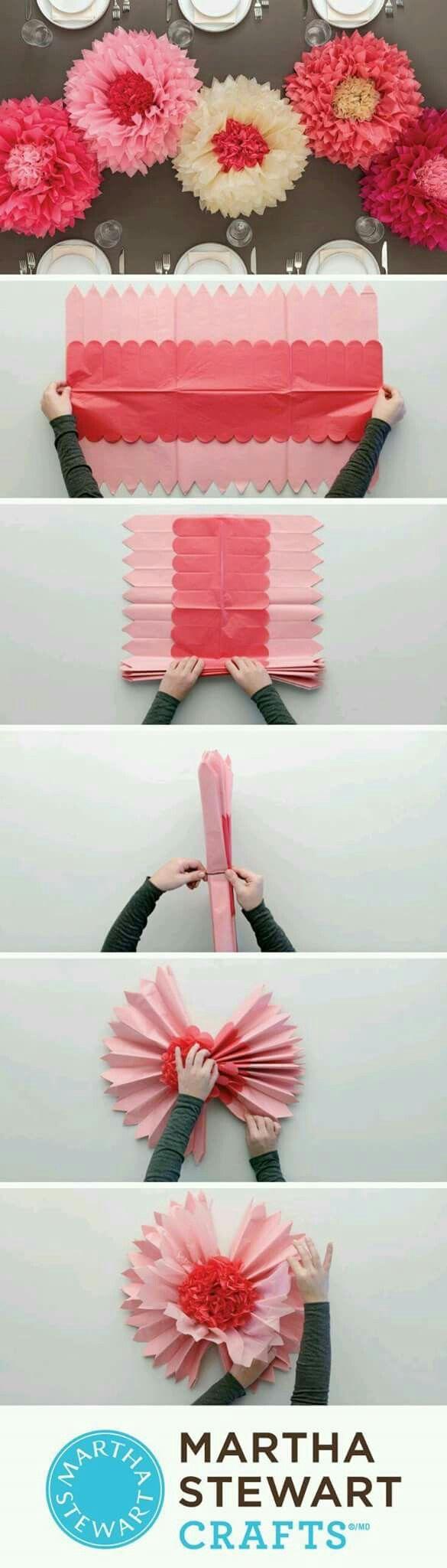 Flores en papel fáciles de hacer para decorar