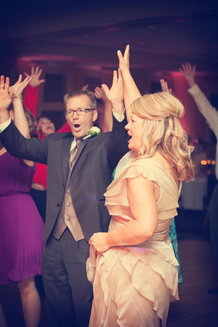 Hands up in the air on the dance floor! #dj #wedding