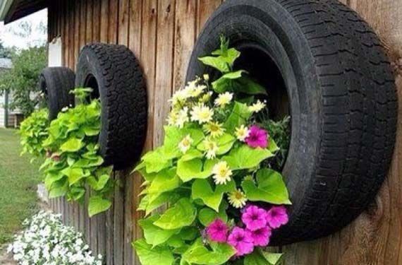 Ideas con neumáticos reciclados - http://www.decoora.com/ideas-con-neumaticos-reciclados.html