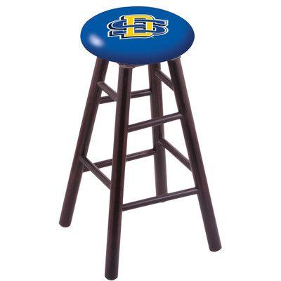 """Holland Bar Stool NHL 24"""" Bar Stool with Cushion Finish: Dark Cherry, NHL Team: South Dakota State University"""