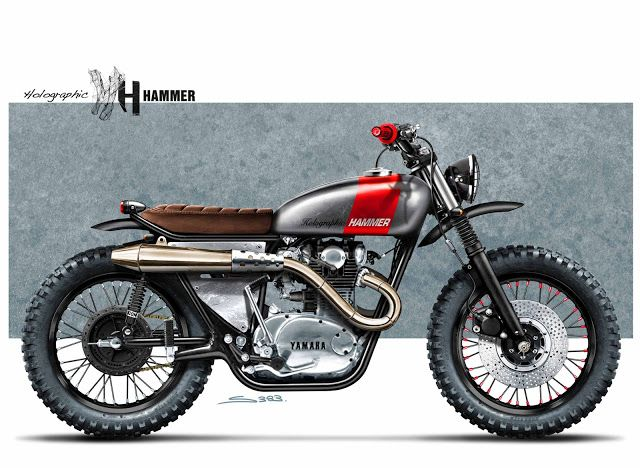 """Cafè Racer Concepts - Yamaha XS 650 """"Scrambler"""" by Holographic Hammer"""