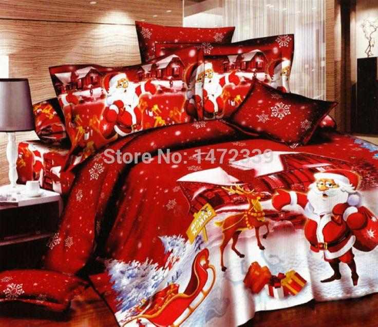 Simple King Size Pcs Santa Claus Duvet Cover Bed Sheet Bedclothes Bedding  Set Home Textile Compro Qualit Set Di Biancheria Da Letto With Lenzuola  Lettino ...