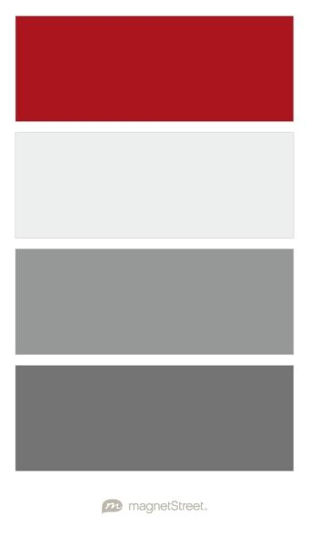 Strawberry, Winter White, Classic Gray, and Charcoal Wedding Color Palette | Wedding Color Trends | MagnetStreet Weddings