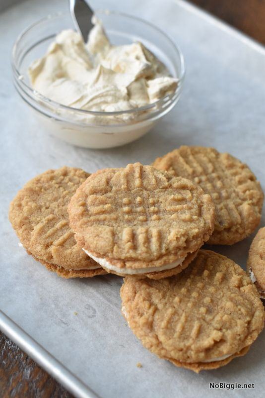 Homemade Nutter Butters. Three Ingredient Peanut Butter Cookies.