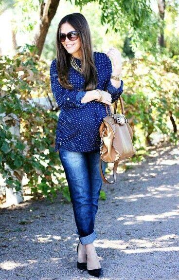 Look, jeans y embarazo