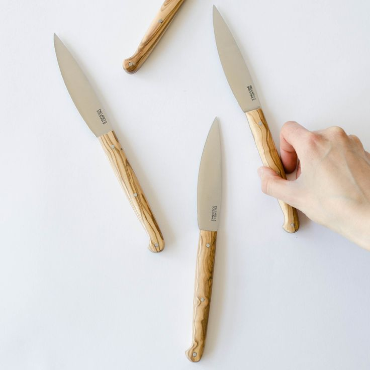 We absolutely love everything about these table knives! Slim, sharp and elegant. These olive wood table knives fit comfortably in your hand and will easily slice through grilled meats, vegetables o...