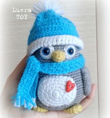 Cute little amigurumi penguin (free russian crochet pattern)