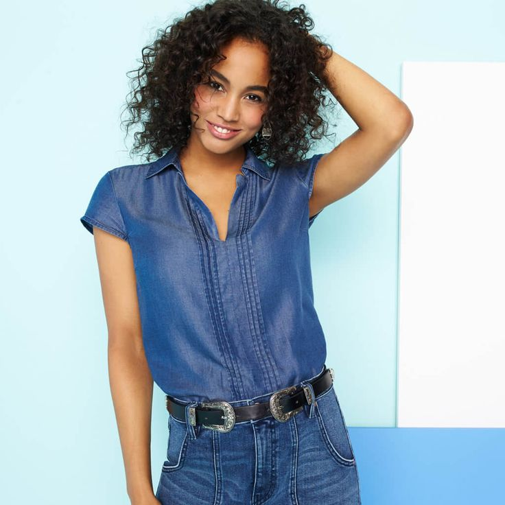 Like this top... whether I love it depends on the fit and how the denim material feels. Worth a try.