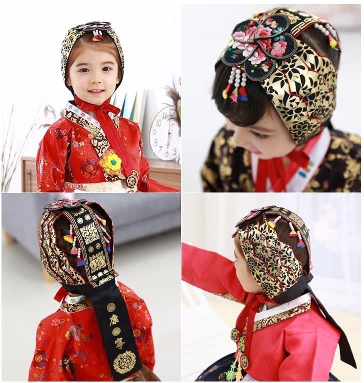 Girl HANBOK Gul Rae Baby hat Korean traditional Cap dress Wedding Korea age2~6 #FairyCloset #Hanbokhairband
