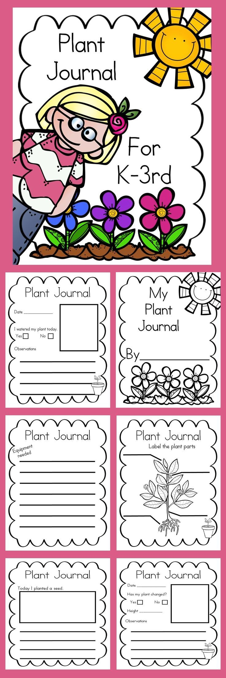 Plant Journal! This Plant Journal is the perfect thing to go along with you plant unit.
