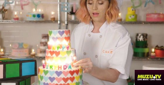 """Check out the lyric video to Katy Perry's latest song """"Birthday""""!  http://www.muzu.tv/katy-perry/birthday-lyric-video-music-video/2203868/"""