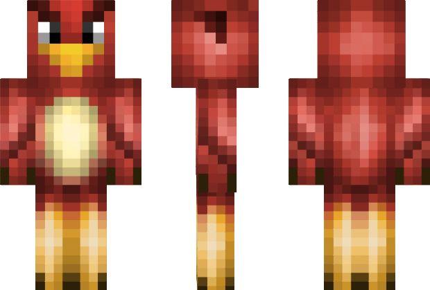 Red AngryBird Minecraft Skin