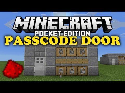 ✔ Passcode Door   MCPE Redstone Tutorial - YouTube